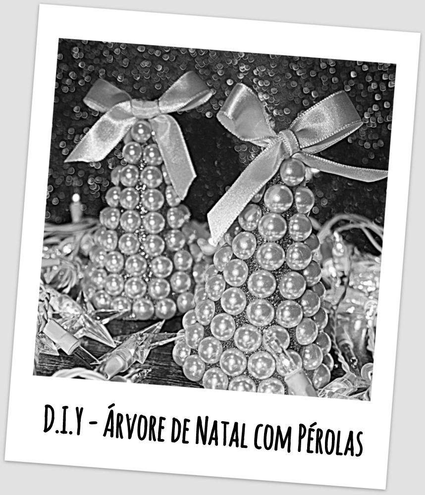D.I.Y - Árvore de Natal com Pérolas