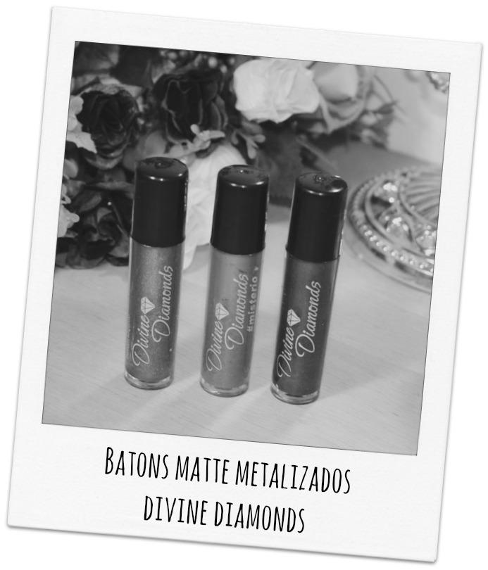Batons Líquido Matte Metalizados Divine Diamonds